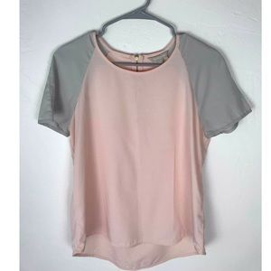 Banana Republic Factory Grey Pink Top